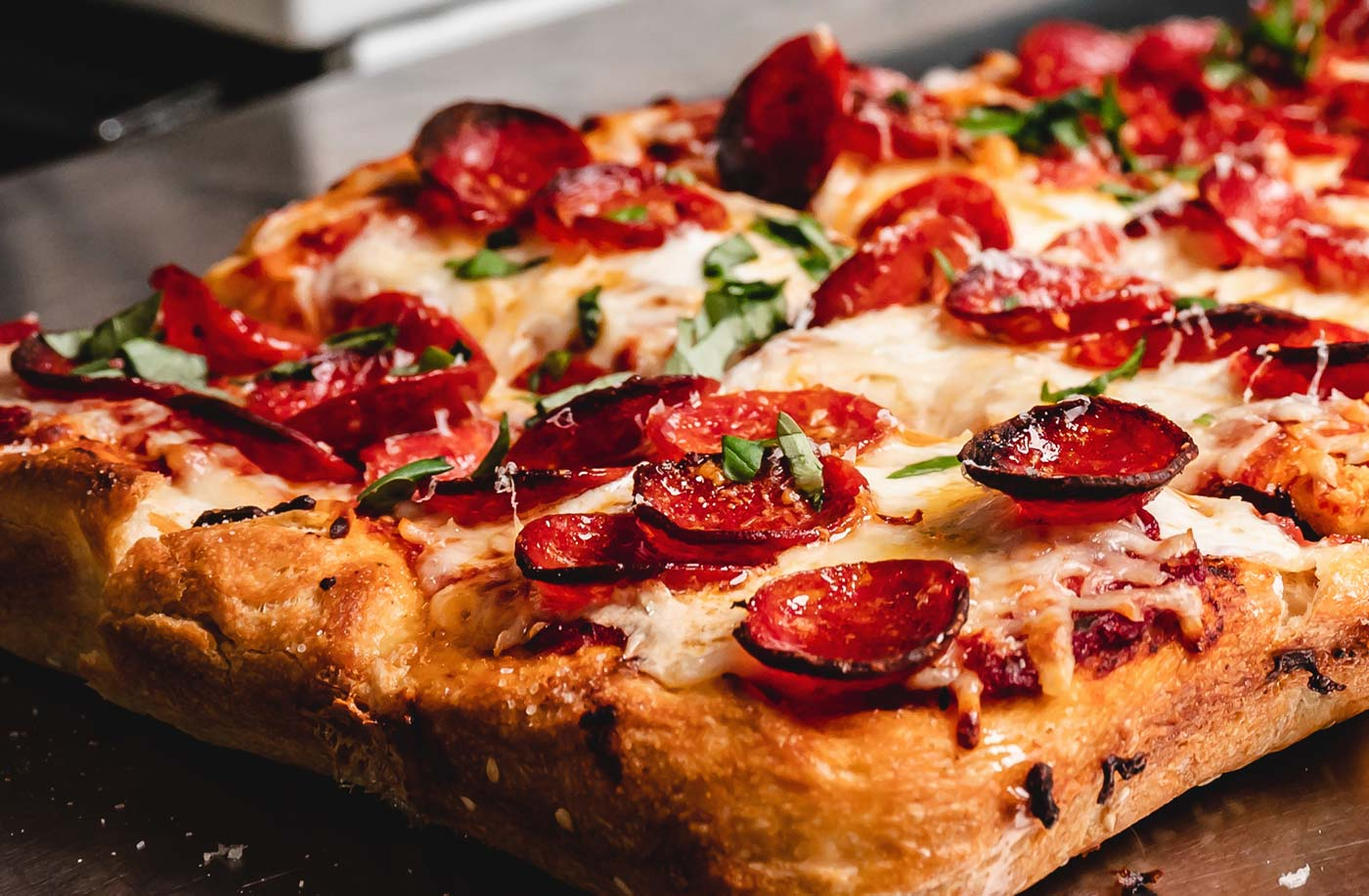 The Wizard's began making his own Sicilian-style pizzas because he couldn't find anything quite like it in Columbus.