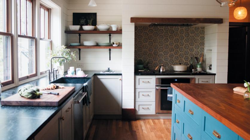 Kitchens We : The Blue Bungalow | Edible Columbus on granite countertops columbus ohio, butcher block countertops columbus ohio, quartz countertops columbus ohio,