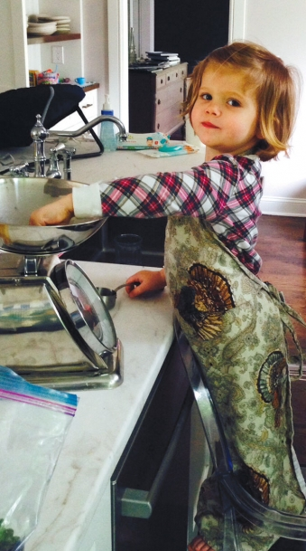 Marlowe in the kitchen