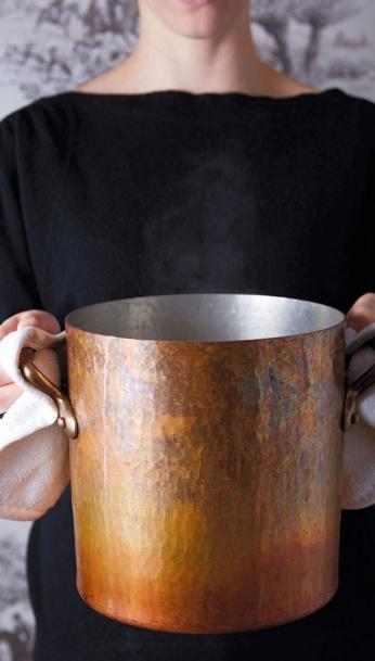 big copper pot
