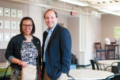 Yolanda Owens and Matt Habash of the Mid-Ohio Foodbank