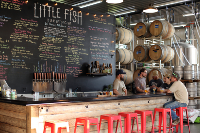 inside Little Fish Brewing Company