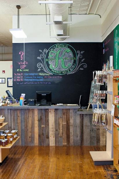Inside Keller Market House, a local food market, in Lancaster, Ohio.