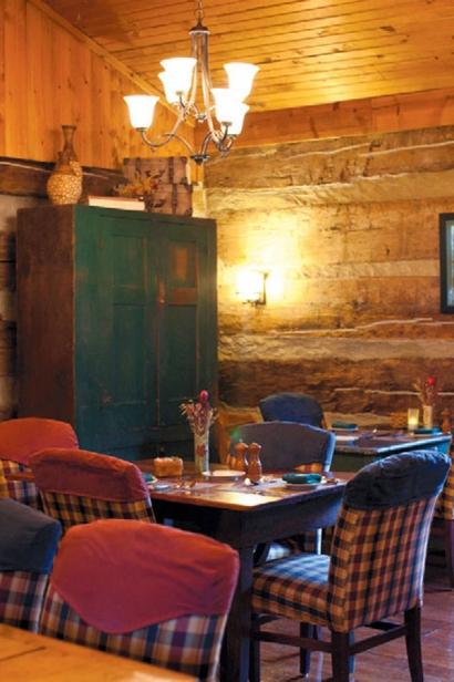 At Kindred Spirits restaurant at The Inn & Spa at Cedar Falls.