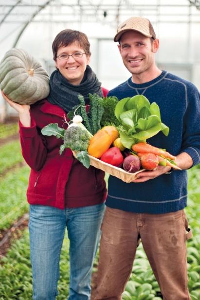 Ben Hartman and Rachel Hershberger of Clay Bottom Farm (Goshen, Indiana)