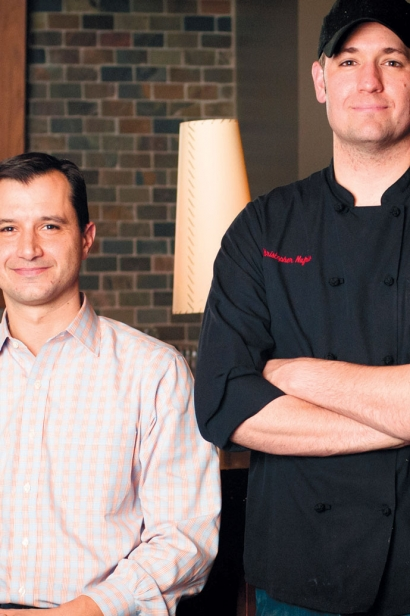 Kevin Malhame (left), co-founder of Northstar Café, Third & Hollywood and Brassica. Chris Nufrio (right), Lead Culinary Partner.