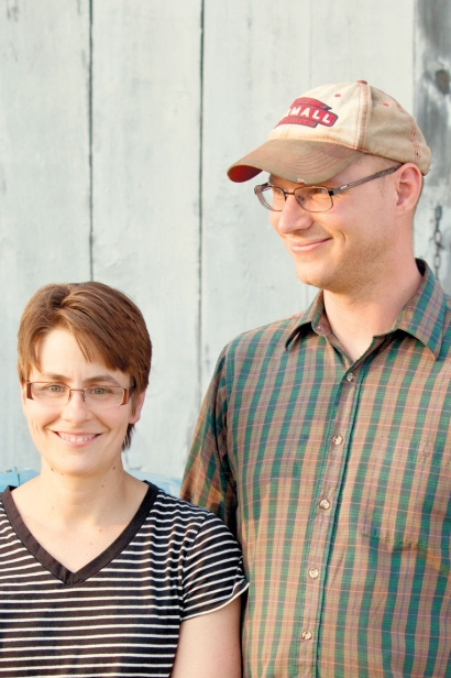 Todd and Heather Schriver of Rock Dove Farm