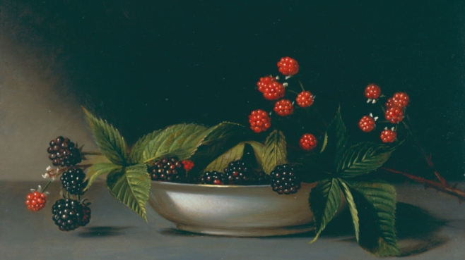 "Raphaelle Peale, ""Blackberries"" oil painting"