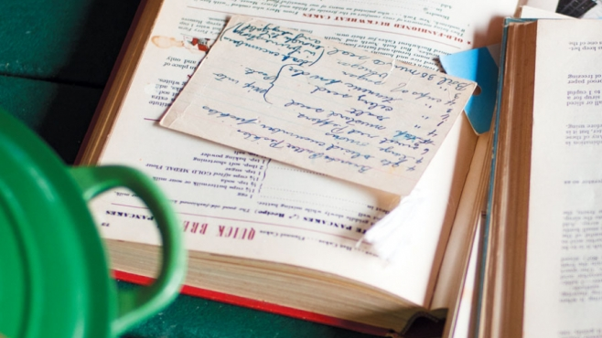 Old cookbooks and family recipes